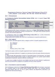 Regolamento Sportivo e Tecnico Coppe CSAI ... - ACI Sport Italia