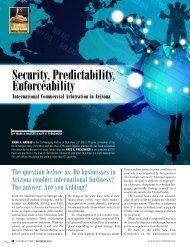 Security, Predictability, Enforceability - Lawyers