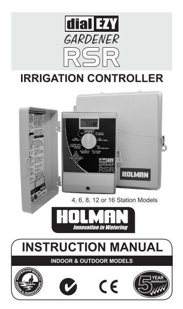 Irritrol Manuals irrigation