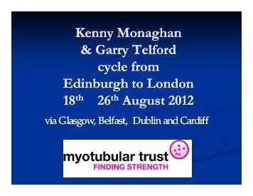 Day 1 Edinburgh to Stevenston (87 miles) - Myotubular Trust