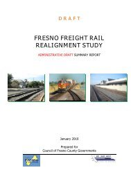 FRESNO FREIGHT RAIL REALIGNMENT STUDY - Council of ...