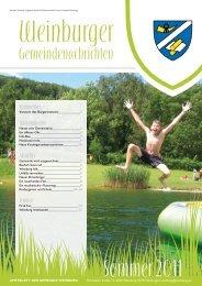 Sommer 2011 - Gemeinde Weinburg