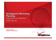 StrategischeMarketing week 1 - Hogeschool van Amsterdam