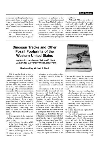 Dinosaur Tracks and Other Fossil Footprints of the Western United ...
