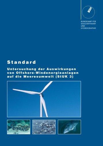 Standard. Untersuchung der Auswirkungen von Offshore ... - BSH