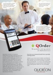 QOrder The portable ordering system for Android devices - QUORiON