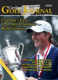 KDUORWWH·V )LUVW - Carolina Golf Journal