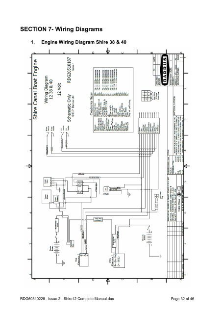 SECTION 7- Wiring Diagram on
