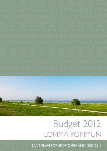 Budget 2012.pdf - Lomma kommun