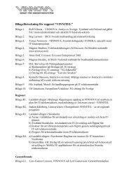 Bilagor till VINNITEL-rapporten - Vinnova