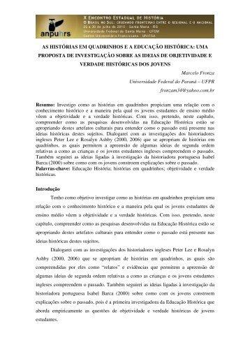 Marcelo Fronza - X Encontro Estadual de História – ANPUH-RS