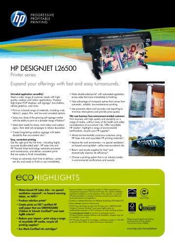 HP Designjet L26500 Printer - GraniteCor Industries