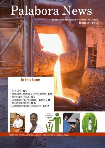Internal Newsletter Issue 3 - Palabora Mining Company