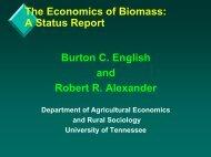 The Economics of Biomass: A Status Report