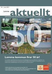 Lomma Aktuellt 1-2013.pdf - Lomma kommun