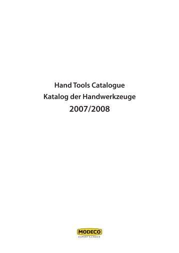 Hand Tools Catalogue Katalog der Handwerkzeuge 2007 ... - Modeco