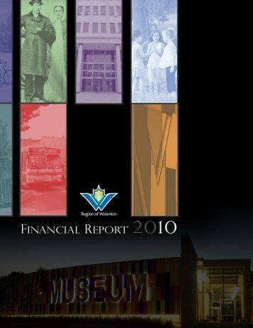 fINANCIAL rEPORT - Region of Waterloo