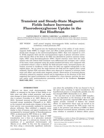 Transient and steady-state magnetic fields induce - Andrew A. Marino