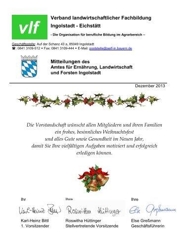 Rundbrief - Verband für landwirtschaftliche Fachbildung in Bayern eV