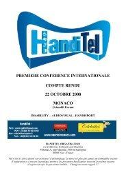 premiere conference internationale compte rendu 22 ... - Sportel