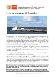 Lomma investerar för framtiden 2011.pdf - Lomma kommun