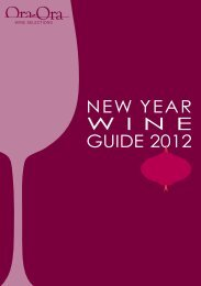 NEW YEAR W I N E GUIDE 2012