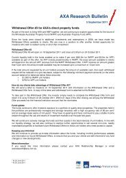 AXA's Wholesale Australian Property Fund