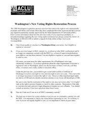 Washington's New Voting Rights Restoration Process - ACLU of ...
