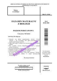egzamin maturalny z biologii poziom podstawowy - dlaStudenta.pl