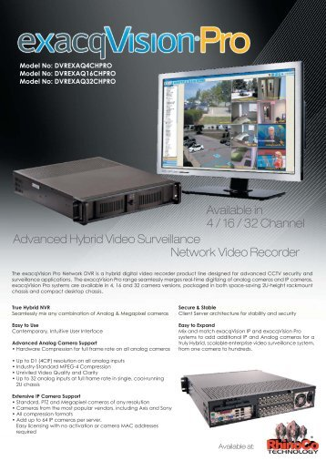 Advanced Hybrid Video Surveillance Network Video Recorder ...