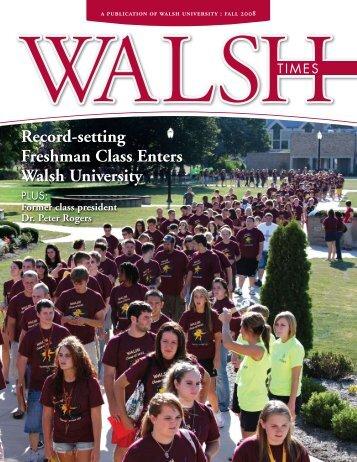 Record-setting Freshman Class Enters Walsh University