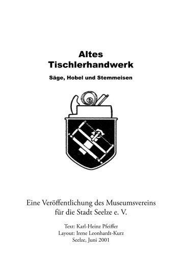 Altes Tischlerhandwerk - Heimatmuseum Seelze e.V.
