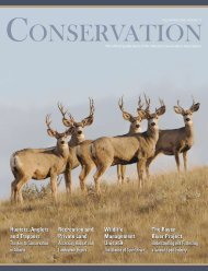 Conservation Magazine - Alberta Conservation Association