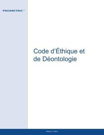Prometric Code of Business Conduct french