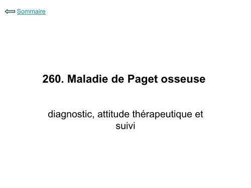 260. Maladie de Paget osseuse