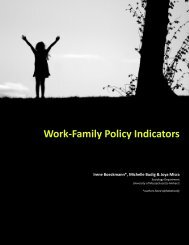 Work-Family Policy Indicators - LIS