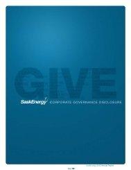 corporatE govErnancE diScloSurE - SaskEnergy