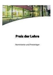 Preis der Lehre_Übersicht über Nominierte und ... - Hochschuldidaktik