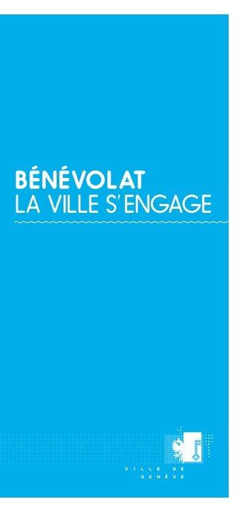 Brochure «Bénévolat - la Ville s'engage - Ville de Genève