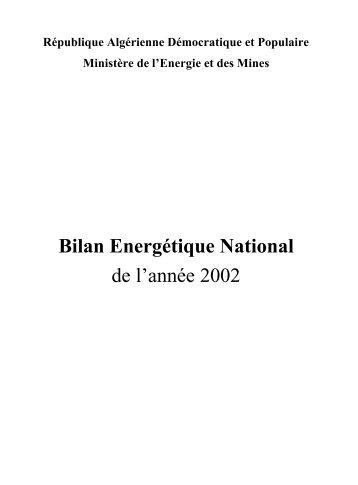 2002 - Ministère de l'énergie et des mines