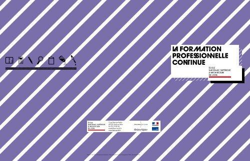 Plaquette de présentation - École Nationale Supérieure d ...
