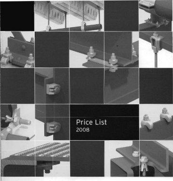 Lindapter price list