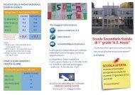 """Scuola Secondaria Statale di 1° grado """"A.S. Aosta"""" - Comune di ..."""