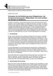 Evaluation für die Einführung eines Obligatoriums der ...