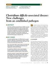 Clostridium difficile-associated disease: New challenges ... - DHHR