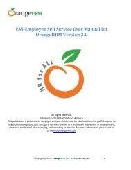 ESS-Employee Self Service User Manual for OrangeHRM Version 3.0
