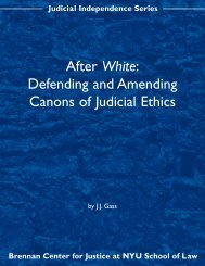 After White: Defending and Amending Canons of Judicial Ethics