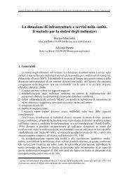 Il metodo per la sintesi degli indicatori - Istat.it