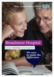 Download the child visitor information leaflet