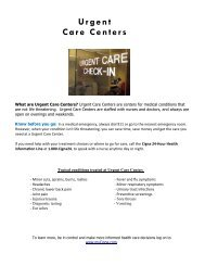 Urgent Care Centers - Risk Management